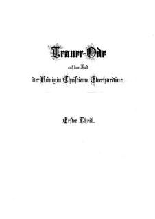 Lass, Fürstin, lass noch einen Strahl, BWV 198: Partitura completa by Johann Sebastian Bach
