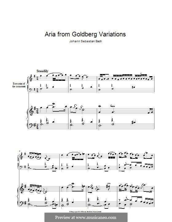 Goldberg Variations, BWV 988: Aria, para piano by Johann Sebastian Bach