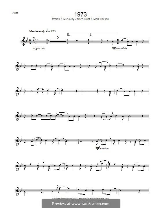 1973: para flauta by James Blunt, Mark Batson
