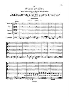 Auf, schmetternde Töne der muntern Trompeten, BWV 207a: Auf, schmetternde Töne der muntern Trompeten by Johann Sebastian Bach