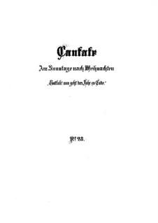 Gottlob! nun geht das Jahr zu Ende (Praise God! Now the Year Comes to an End), BWV 28: Partitura completa by Johann Sebastian Bach