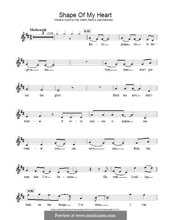 Shape of My Heart (Backstreet Boys): para gravar by Lisa Miskovsky, Max Martin, Rami Yacoub