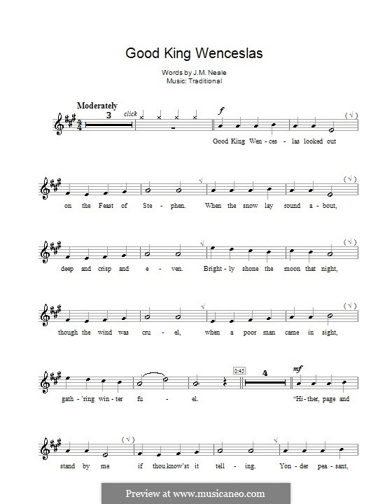 Good King Wenceslas: para clarinete by folklore