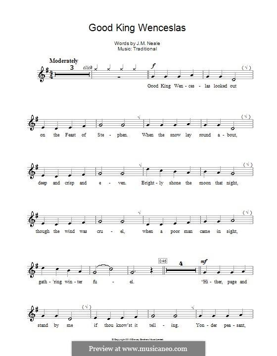 Good King Wenceslas: para flauta by folklore