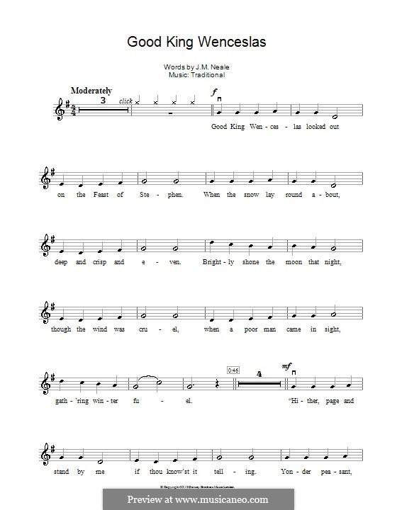 Good King Wenceslas: para violino by folklore