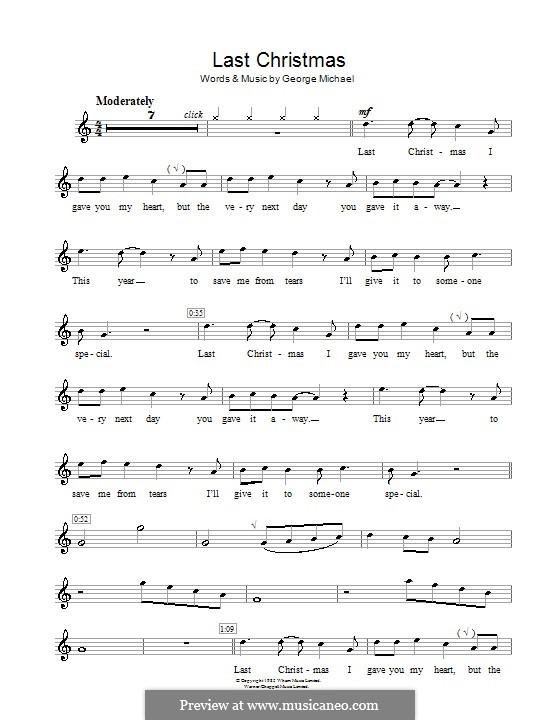 Last Christmas (Wham!): para flauta by George Michael