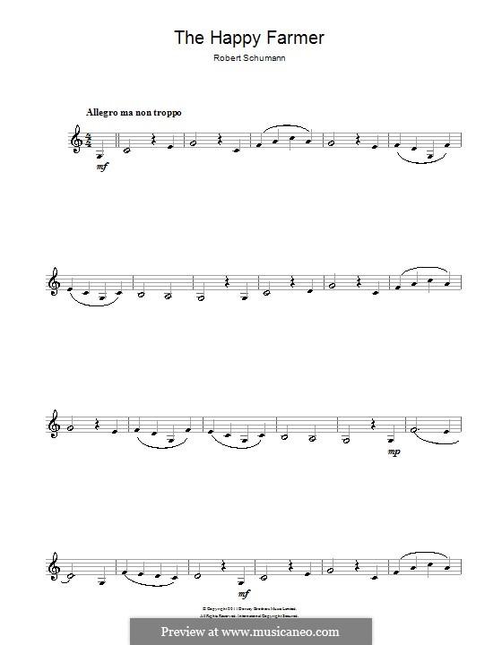 No.10 Fröhlicher Landmann (The Happy Farmer): para clarinete by Robert Schumann