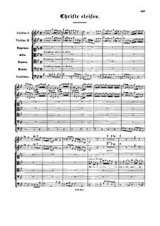 Christe eleison in C Minor, BWV 242: Christe eleison in C Minor by Johann Sebastian Bach