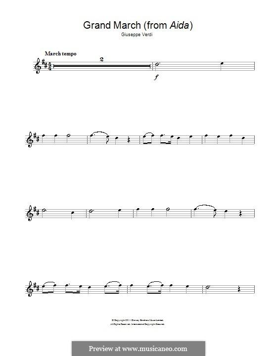 March: para Saxofone Alto by Giuseppe Verdi
