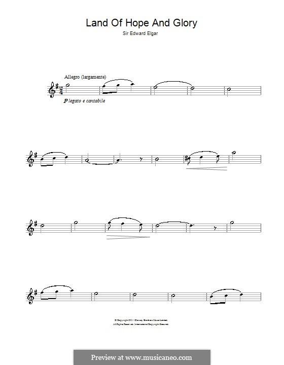 March No.1: Trio, for flute by Edward Elgar