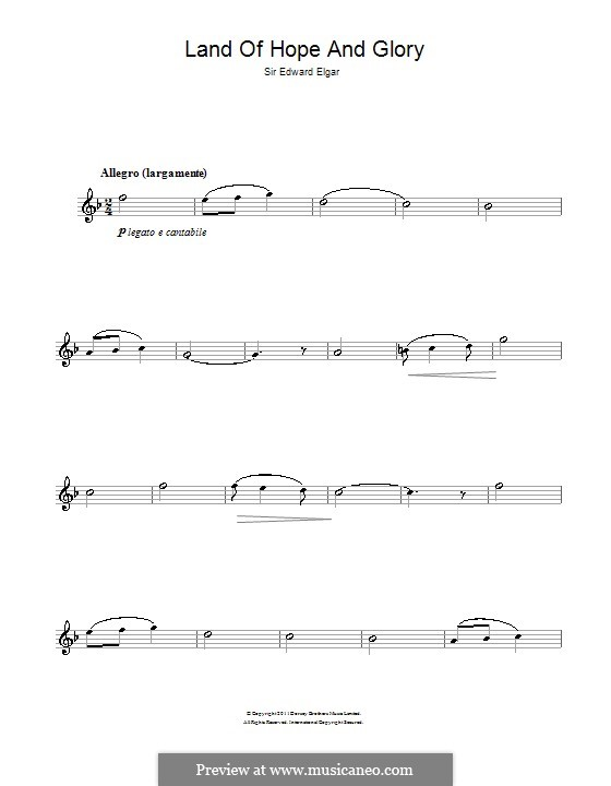 March No.1: Trio, for alto saxophone by Edward Elgar