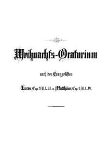 Weihnachts-Oratorium (The Christmas Oratorio), BWV 248: Partitura completa by Johann Sebastian Bach