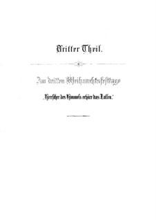 Weihnachts-Oratorium (The Christmas Oratorio), BWV 248: Herrscher des Himmels, erhöre das Lallen (Part III) by Johann Sebastian Bach