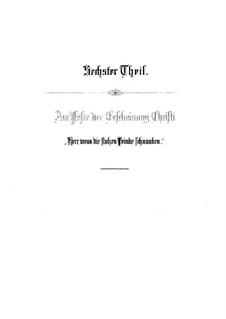 Weihnachts-Oratorium (The Christmas Oratorio), BWV 248: Herr, wenn die stolzen Feinde schnauben (Part VI) by Johann Sebastian Bach