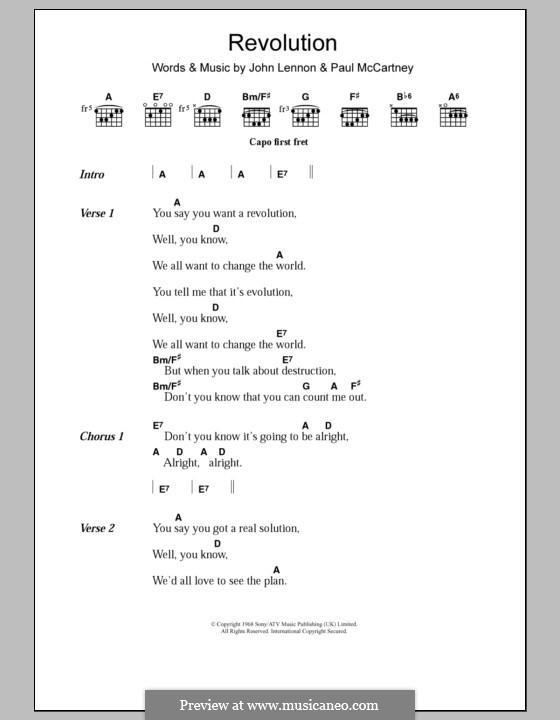 Revolution (The Beatles): Letras e Acordes by John Lennon, Paul McCartney