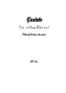 Schwingt freudig euch empor, BWV 36: Partitura completa by Johann Sebastian Bach