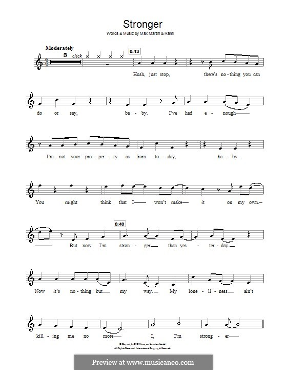 Stronger (Britney Spears): para violino by Max Martin, Rami Yacoub
