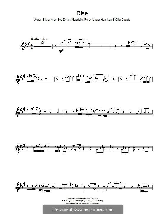 Rise: para trompeta by Gabrielle, Bob Dylan, Ferdy Unger-Hamilton, Ollie Dagois