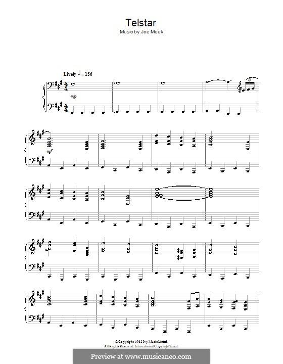 Telstar (The Tornados): Para Piano by Joe Meek