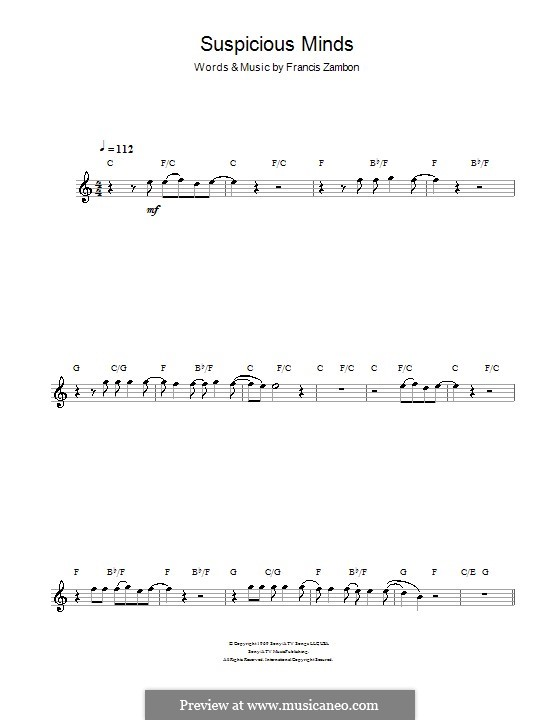 Suspicious Minds (Elvis Presley): para flauta by Francis Zambon