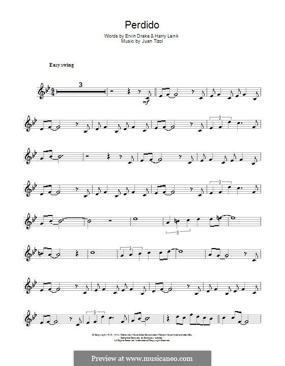 Perdido (Duke Ellington): para trompeta by Juan Tizol