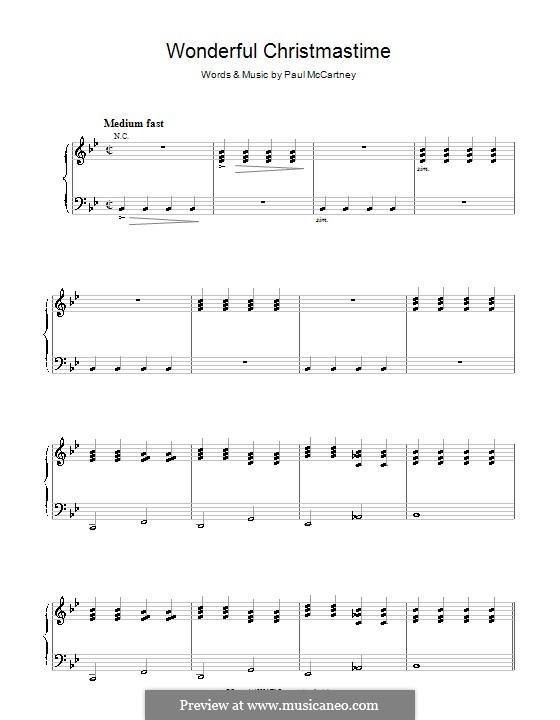 Wonderful Christmastime: Para vocais e piano by Paul McCartney