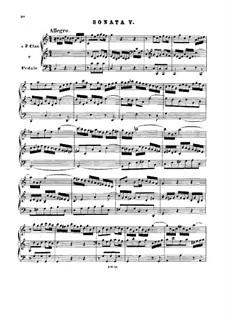 Trio Sonata for Organ No.5 in C Major, BWV 529: para um único musico (Editado por H. Bulow) by Johann Sebastian Bach