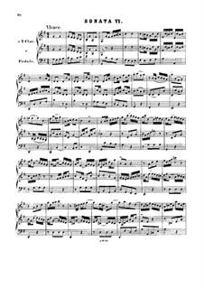 Trio Sonata for Organ No.6 in G Major, BWV 530: para um único musico (Editado por H. Bulow) by Johann Sebastian Bach