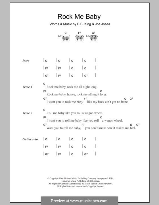 Rock Me Baby: Letras e Acordes by Joe Bihari