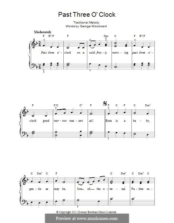 Past Three O'Clock: Facil para o piano by George Ratcliffe Woodward