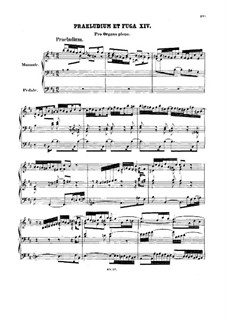 Prelude and Fugue No.14 in B Minor, BWV 544: para orgãos by Johann Sebastian Bach