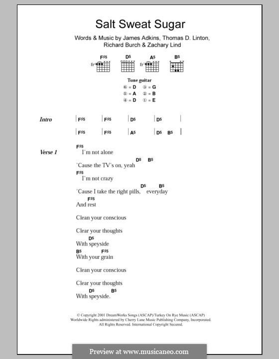 Salt Sweat Sugar (Jimmy Eat World): Letras e Acordes by James Adkins, Richard Burch, Thomas D. Linton, Zachary Lind