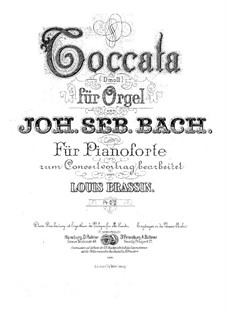 Toccata and Fugue in D Minor, BWV 565: For piano. Version by Brassin by Johann Sebastian Bach