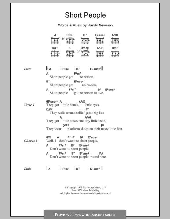 Short People: Letras e Acordes by Randy Newman