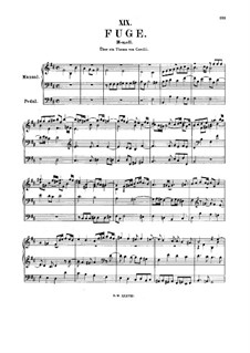 Fugue in B Minor, BWV 579: para orgãos by Johann Sebastian Bach