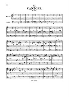 Canzone in D Minor, BWV 588: Canzone in D Minor by Johann Sebastian Bach