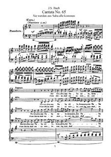Sie werden aus Saba alle kommen, BWV 65: Partitura piano-vocal by Johann Sebastian Bach