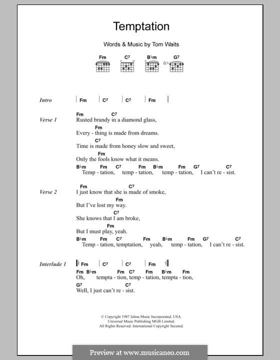 Temptation: Letras e Acordes by Tom Waits