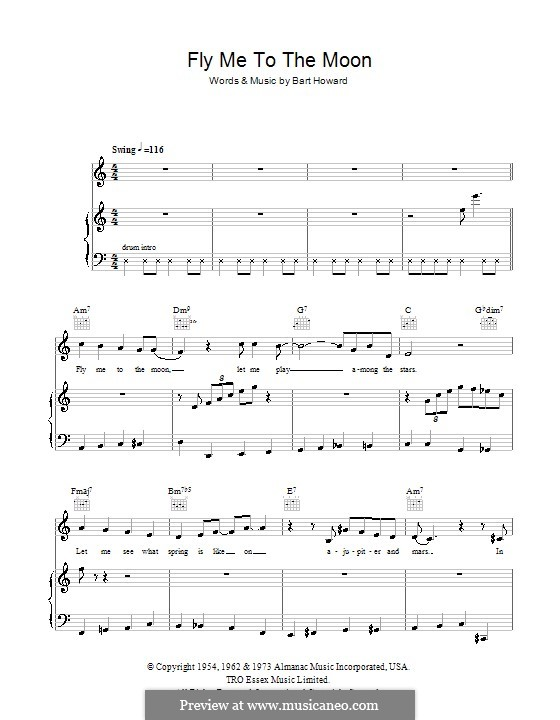 Fly Me to the Moon (In Other Words): para voz, guitarra e piano (frank sinatra) by Bart Howard