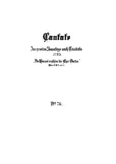 Die Himmel erzählen die Ehre Gottes, BWV 76: Partitura completa by Johann Sebastian Bach