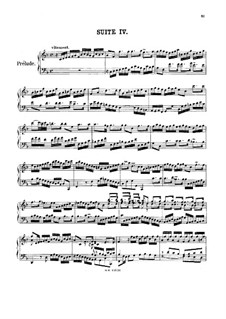 Suite No.4 in F Major, BWV 809: para cravo by Johann Sebastian Bach