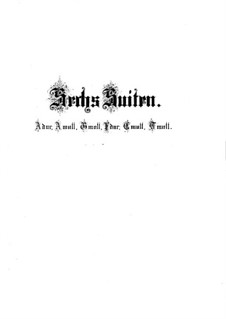 Complete set, BWV 806-811: para cravo by Johann Sebastian Bach