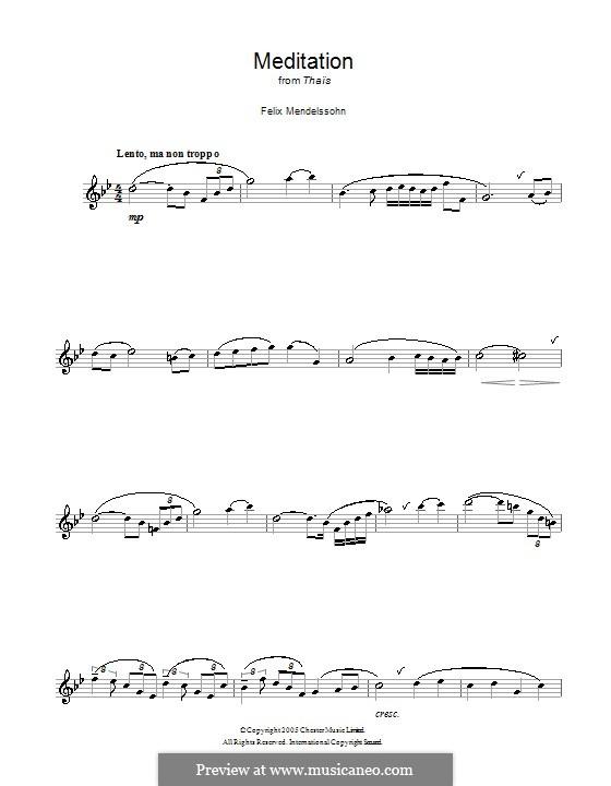 Meditation: para flauta by Jules Massenet