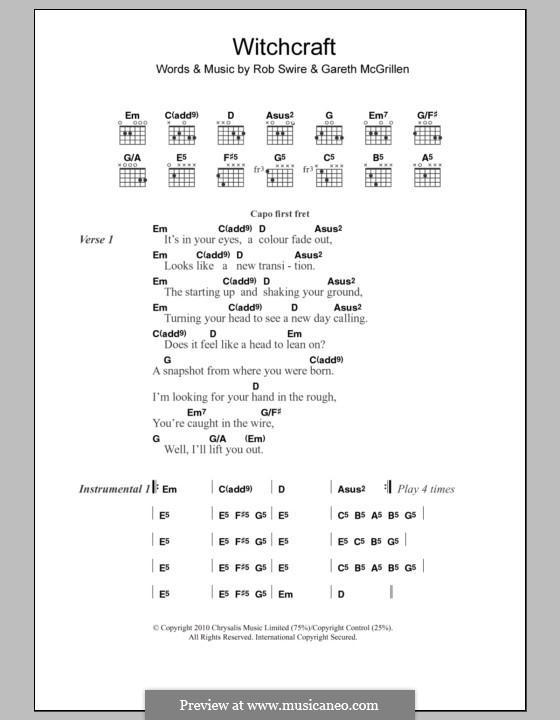 Witchcraft (Pendulum): Letras e Acordes by Gareth McGrillen, Rob Swire