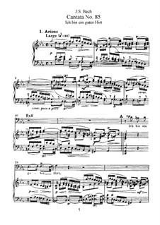 Ich bin ein guter Hirt, BWV 85: Partitura piano-vocal by Johann Sebastian Bach