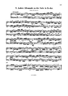 Suite for Harpsichord No.2 in E Flat Major, BWV 819a: Suite for Harpsichord No.2 in E Flat Major by Johann Sebastian Bach