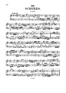 Scherzo for Keyboard in D Minor, BWV 844: Scherzo for Keyboard in D Minor by Johann Sebastian Bach