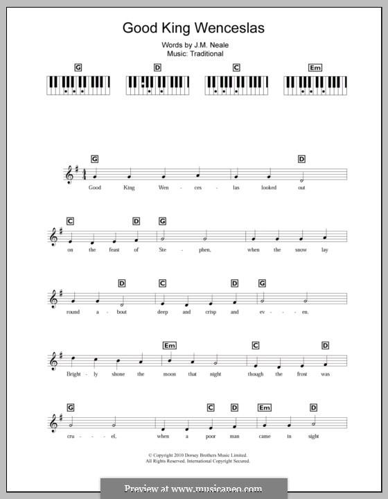 Good King Wenceslas: para teclado by folklore