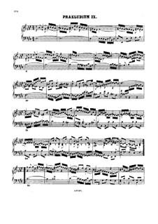 Prelude and Fugue No.9 in E Major, BWV 878: para cravo by Johann Sebastian Bach