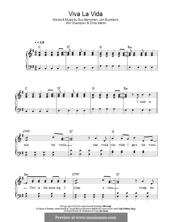 Piano version: Versão Facil by Chris Martin, Guy Berryman, Jonny Buckland, Will Champion